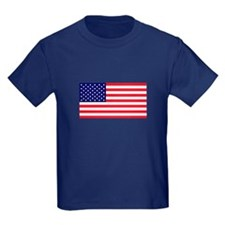 American Flag Kids Navy T-Shirt