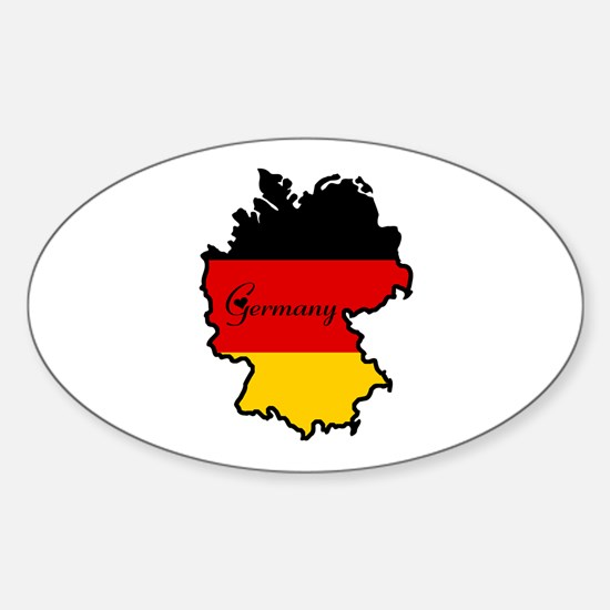 Cool Germany Oval Decal