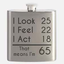 That Means Im 65 Flask