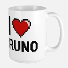 I Love Bruno Mugs