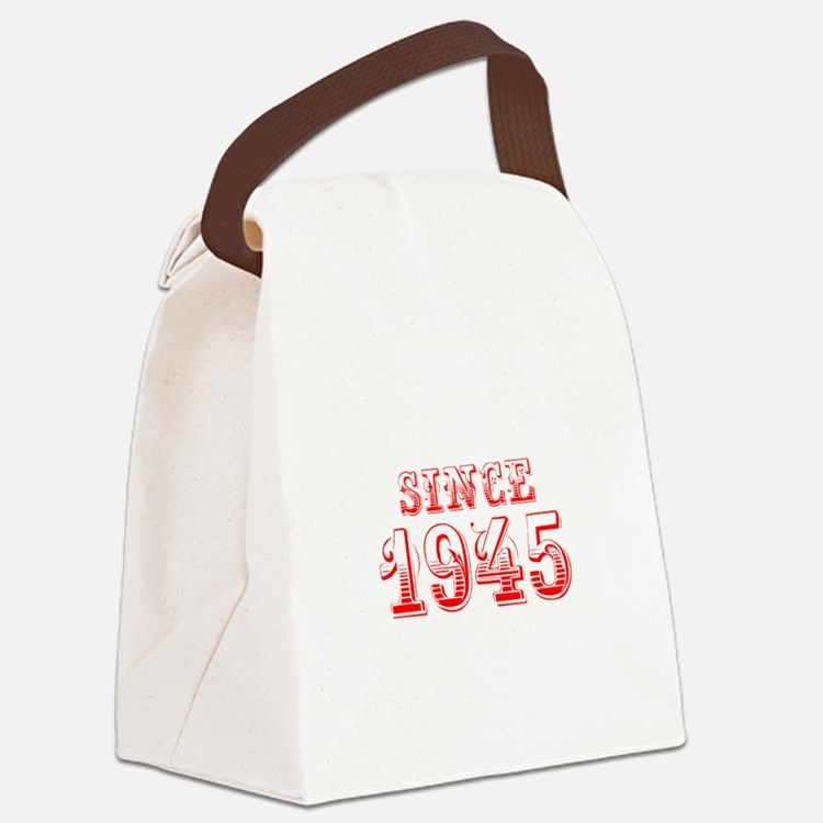 SINCE 1945-Bod red 300 Canvas Lunch Bag