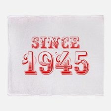 SINCE 1945-Bod red 300 Throw Blanket