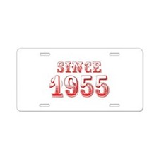 SINCE 1955-Bod red 300 Aluminum License Plate