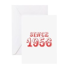 SINCE 1956-Bod red 300 Greeting Cards