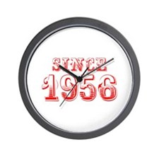 SINCE 1956-Bod red 300 Wall Clock