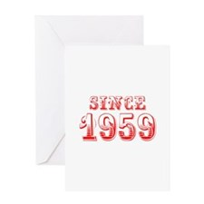 SINCE 1959-Bod red 300 Greeting Cards
