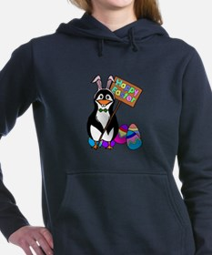 Easter Penguin with Colo Women's Hooded Sweatshirt