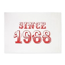 SINCE 1968-Bod red 300 5'x7'Area Rug