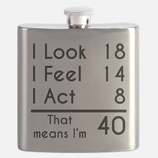 That Means Im 40 Flask