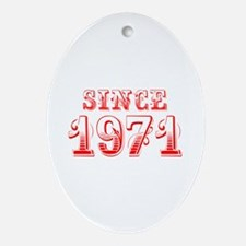 SINCE 1971-Bod red 300 Ornament (Oval)