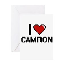 I Love Camron Greeting Cards