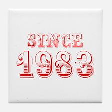 SINCE 1983-Bod red 300 Tile Coaster