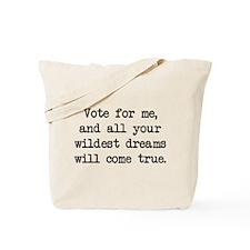Vote For Me (blk) - Napoleon Tote Bag
