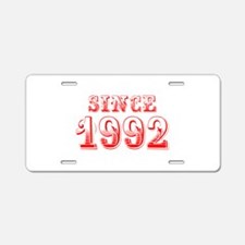 SINCE 1992-Bod red 300 Aluminum License Plate