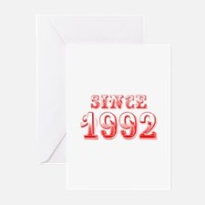 SINCE 1992-Bod red 300 Greeting Cards