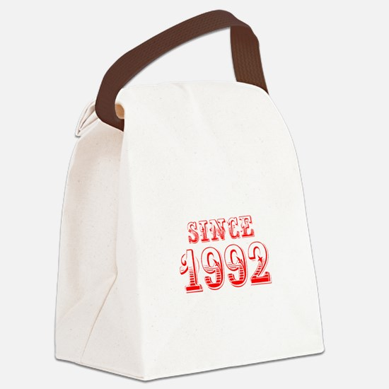 SINCE 1992-Bod red 300 Canvas Lunch Bag