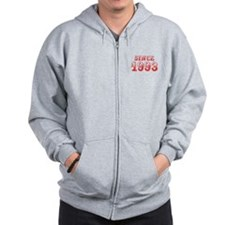 SINCE 1993-Bod red 300 Zip Hoodie