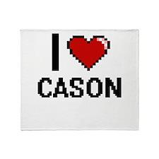 I Love Cason Throw Blanket