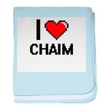 I Love Chaim baby blanket