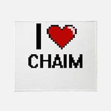 I Love Chaim Throw Blanket
