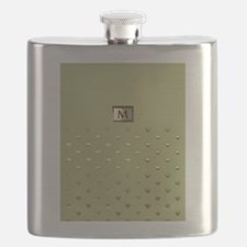 Gold Monogram Flask