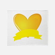 Banner Heart Throw Blanket