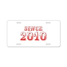SINCE 2011-Bod red 300 Aluminum License Plate