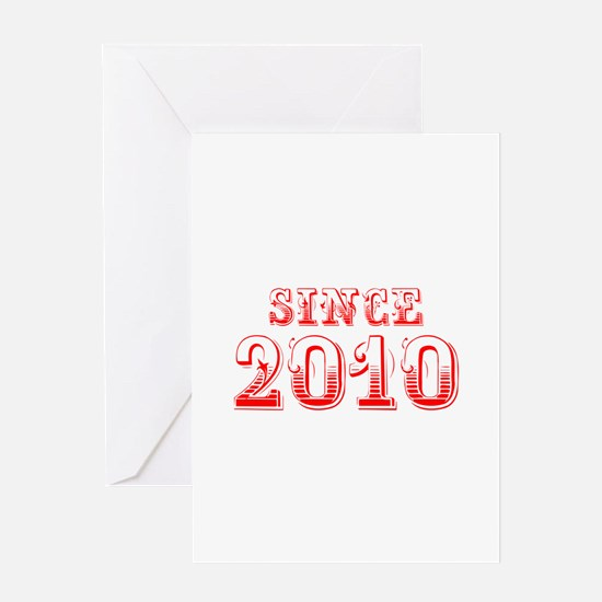SINCE 2011-Bod red 300 Greeting Cards