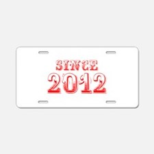 SINCE 2012-Bod red 300 Aluminum License Plate