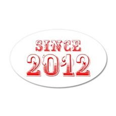 SINCE 2012-Bod red 300 Wall Decal