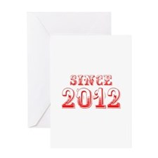 SINCE 2012-Bod red 300 Greeting Cards