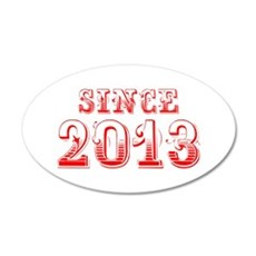 SINCE 2013-Bod red 300 Wall Decal
