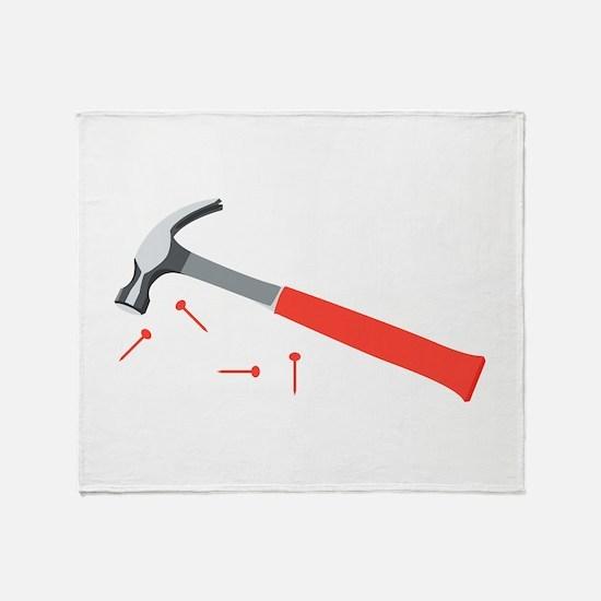 Hammer & Nails Throw Blanket