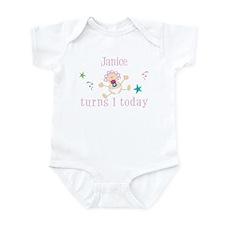 Janice turns 1 today Infant Bodysuit