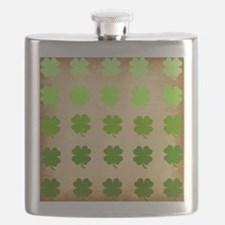 Four Leaf Clover Pattern on Papyrus Flask
