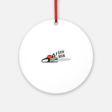 Saw Man Ornament (Round)