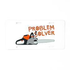 Problem Solver Aluminum License Plate