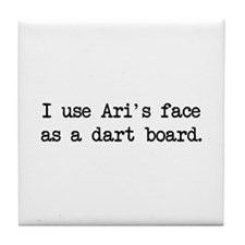 Ari's Face (blk) - Entourage Tile Coaster