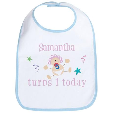 Samantha turns 1 today Bib