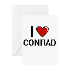 I Love Conrad Greeting Cards