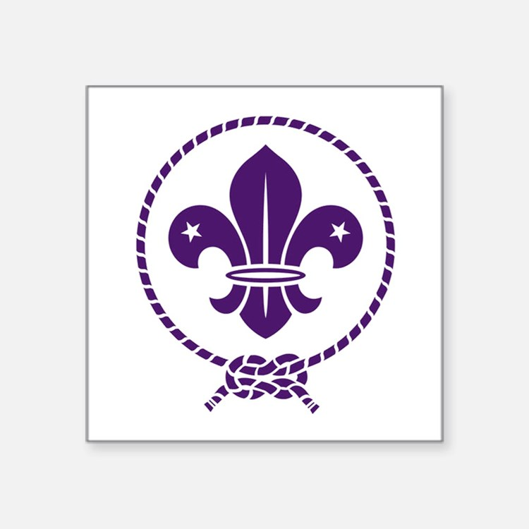 "Cute Scouting Square Sticker 3"" x 3"""