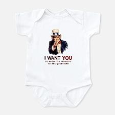 Ask Questions Political Infant Bodysuit