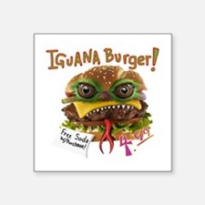 Iguana burger Sticker