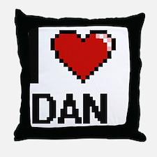 Unique I heart dan Throw Pillow