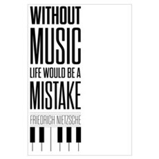 Friedrich Nietzsche Quote life music typography ar Canvas Art