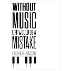 Friedrich Nietzsche Quote life music typography ar Poster