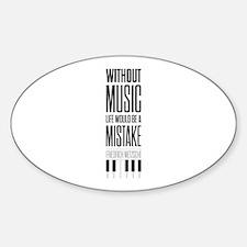 Friedrich Nietzsche Quote life music typog Decal