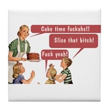Cake Time Fun Tile Coaster