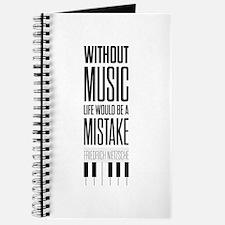 Friedrich Nietzsche Quote life music typog Journal