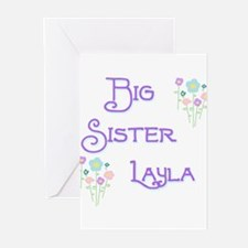 Big Sister Layla Greeting Cards (Pk of 10)